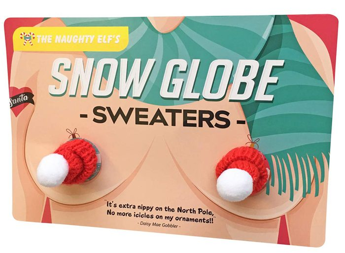 snow globe nipple sweaters chest warmers