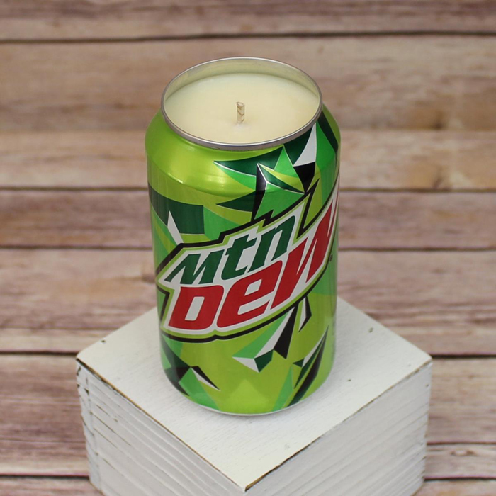 soda drink candles mountain dew