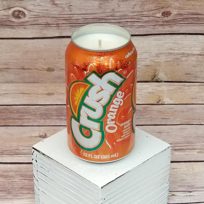 soda drink candles orange crush