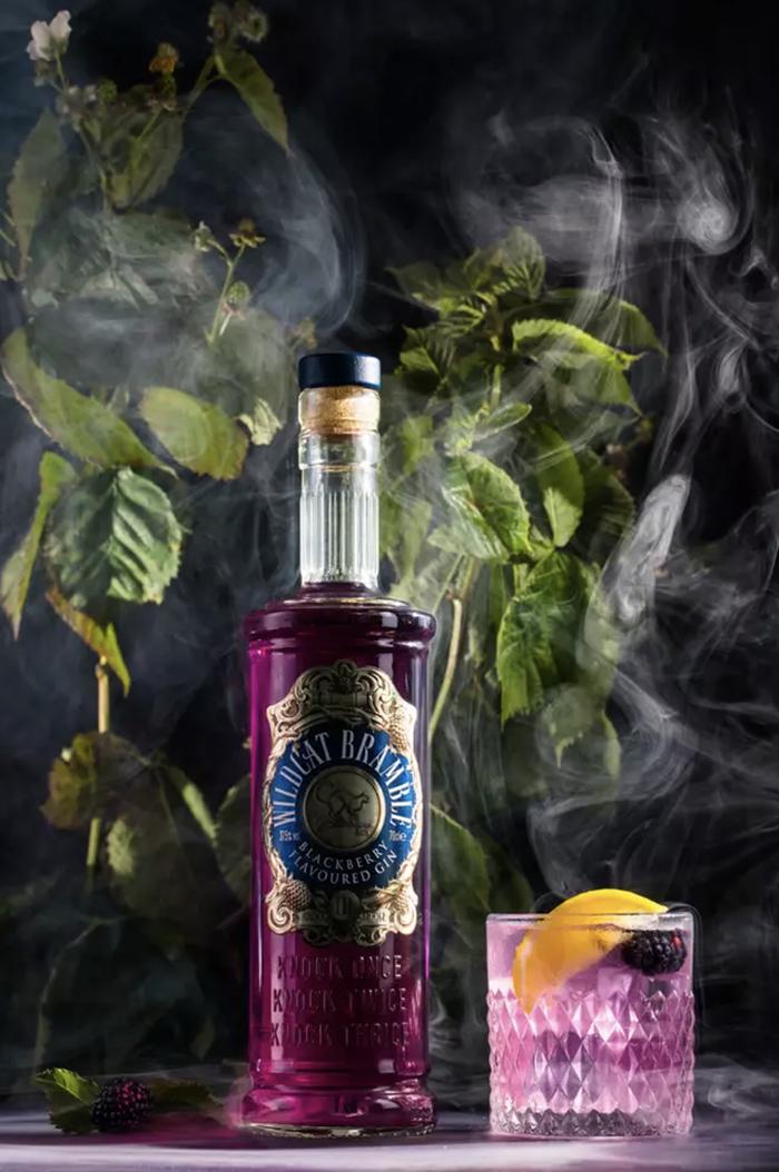 spooky cursed blackberry gin