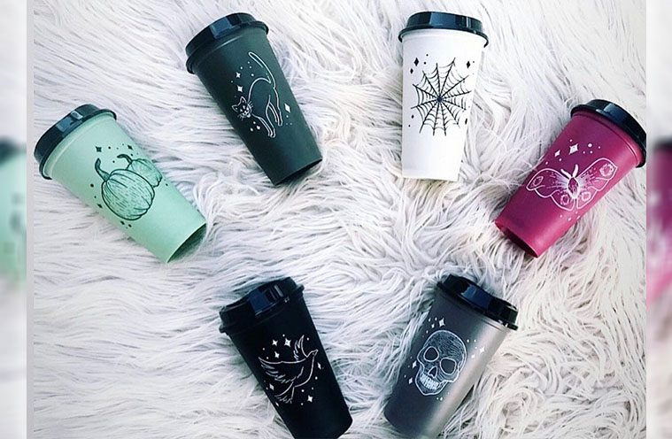 starbucks halloween reusable cups