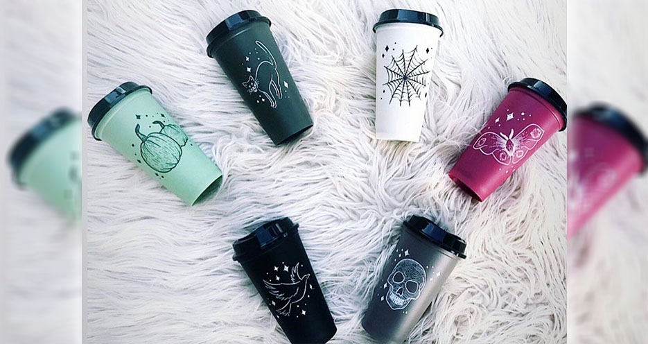 Starbucks Has A Set Of Spooky Reusable Cups Perfect For