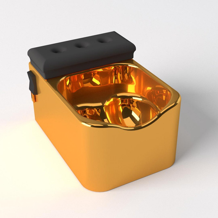 testicuzzi jacuzzi for the nuts 14k gold plated edition