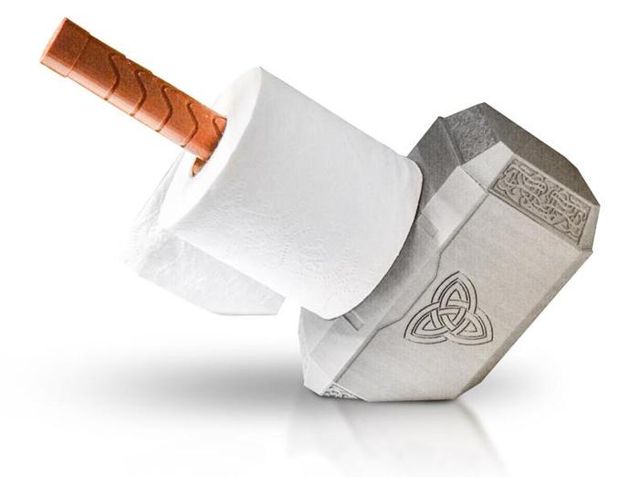 thor hammer toilet paper holder angled bottom