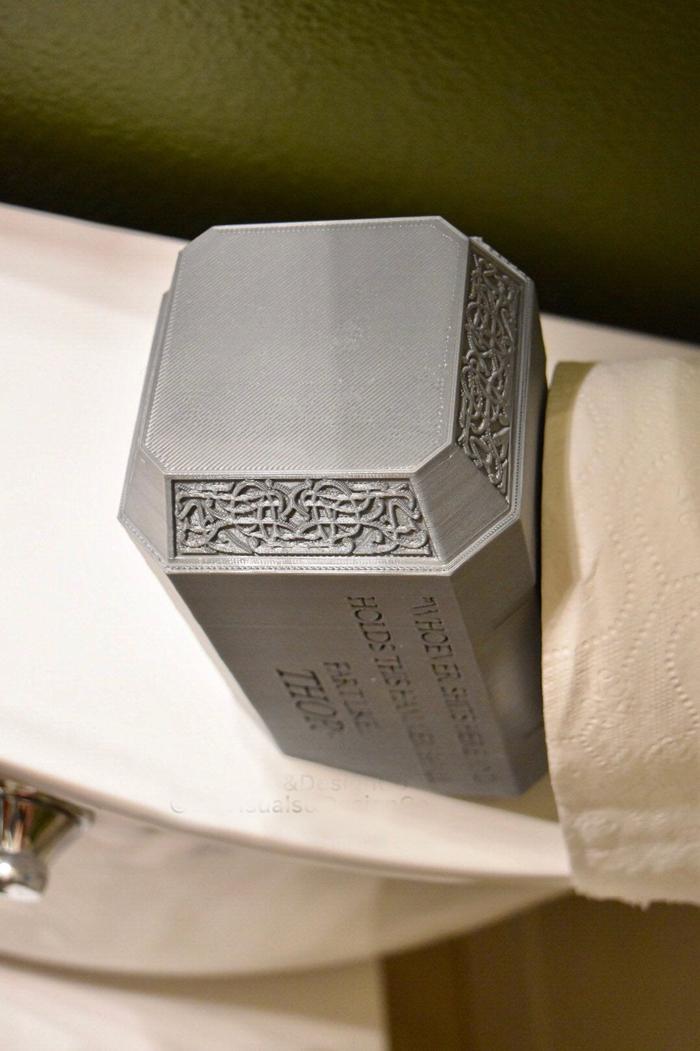 thor hammer toilet paper holder engraving