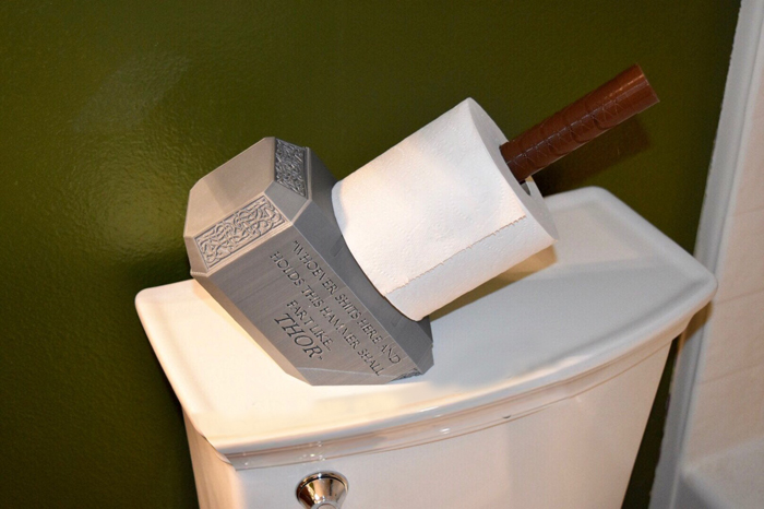 thor hammer toilet paper holder placement