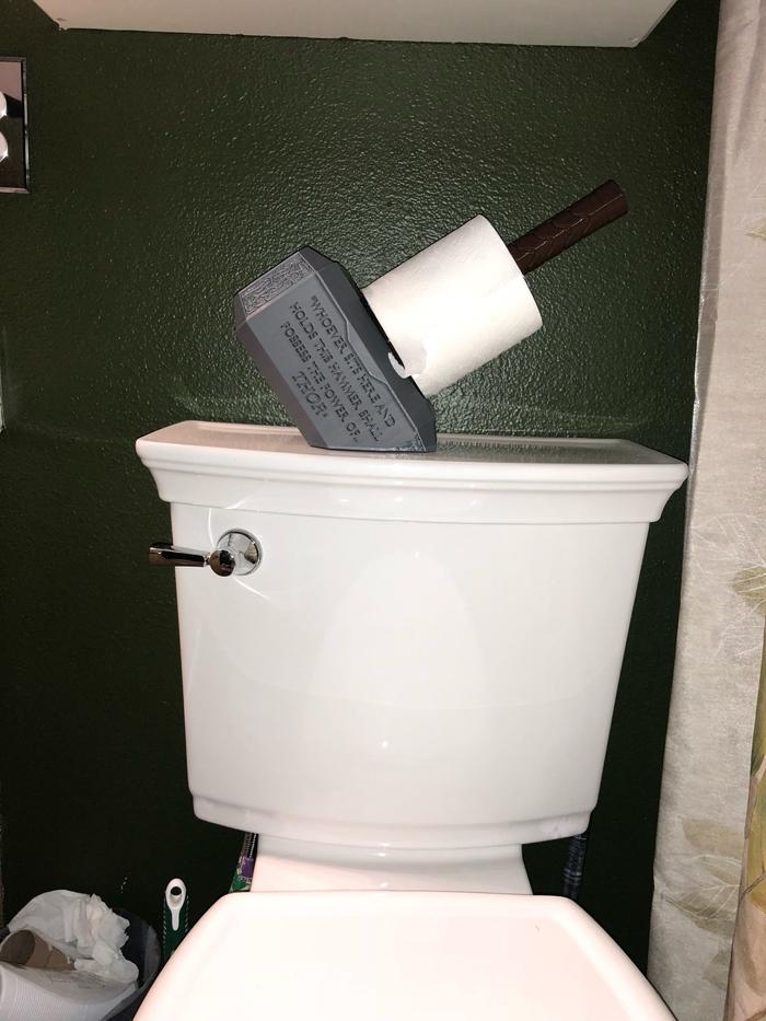 thor hammer toilet paper holder replica