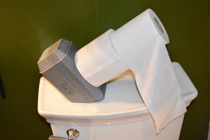 thor hammer toilet paper holder two rolls