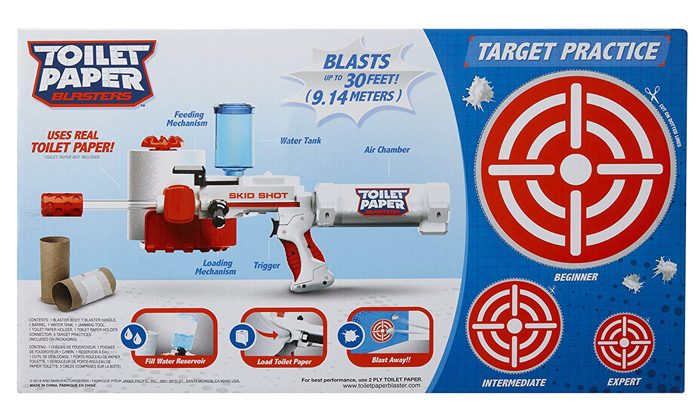 toilet paper blaster cutout targets package