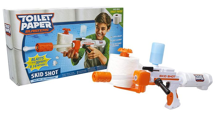 toilet paper blaster skid shot box