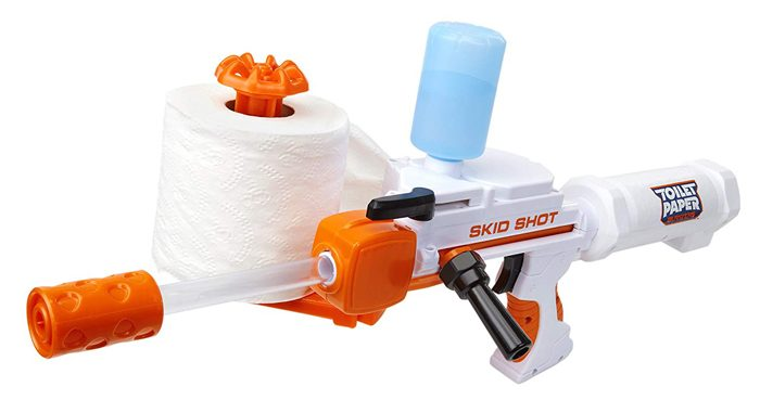 toilet paper blaster toy gun skid shot