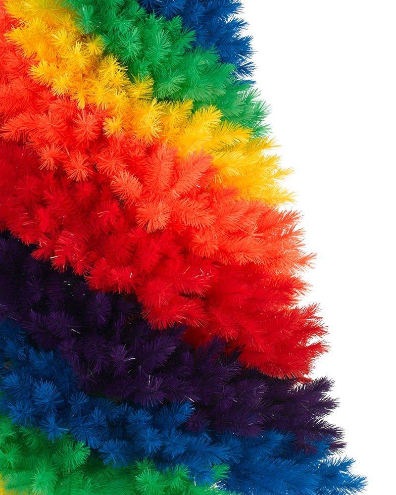treetopia rainbow christmas tree pvc needles