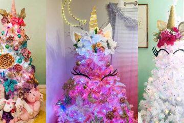 unicorn christmas tree topper