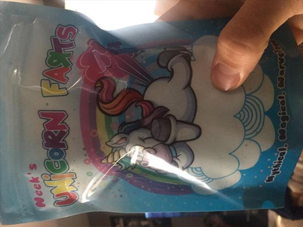 unicorn fats candy bag