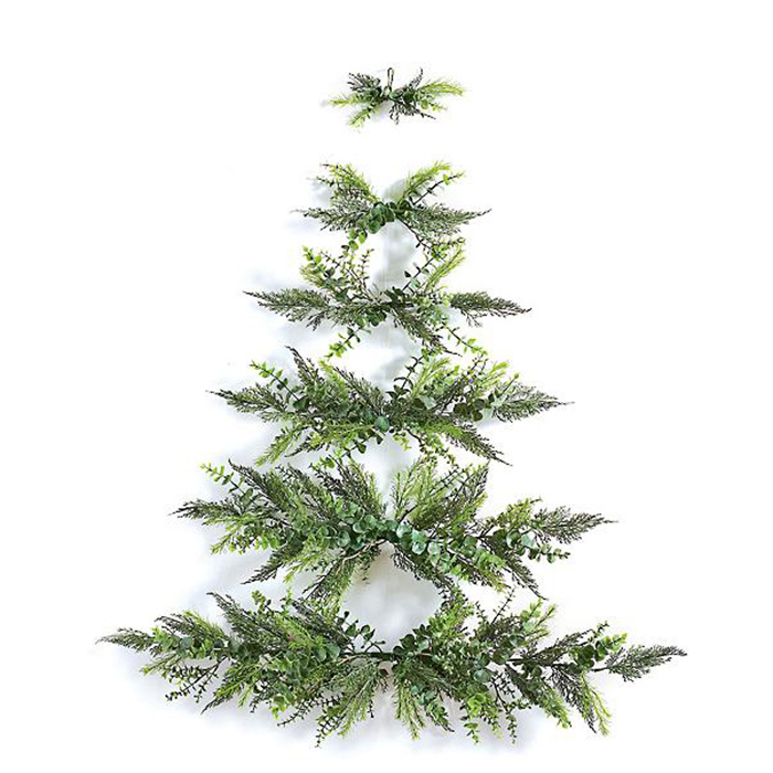 wall-mounted christmas tree six sections