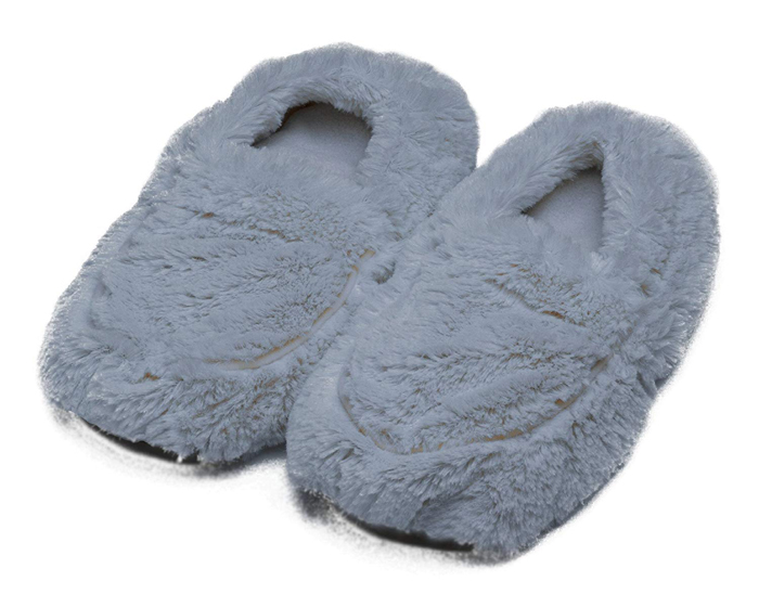 warmies microwavable slippers grey