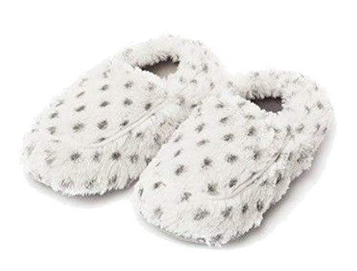 warmies microwavable slippers snowy