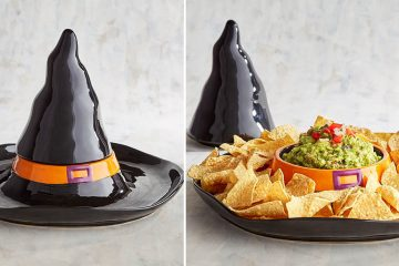 witch hat chip and dip serving tray