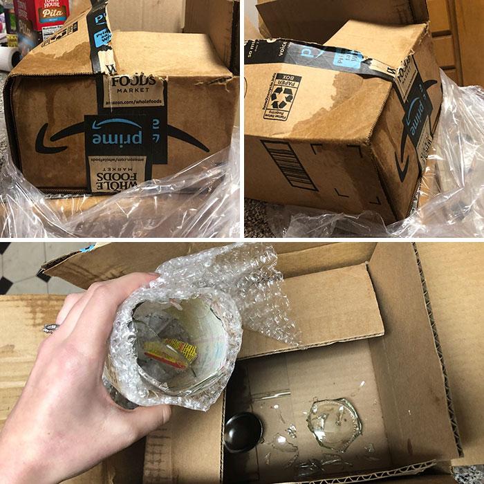 worst delivery drivers apple cider bottles broken