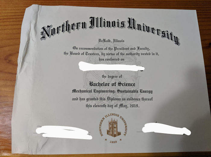worst delivery drivers diploma dropped in a puddle