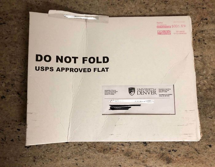 worst delivery drivers diploma mail folded