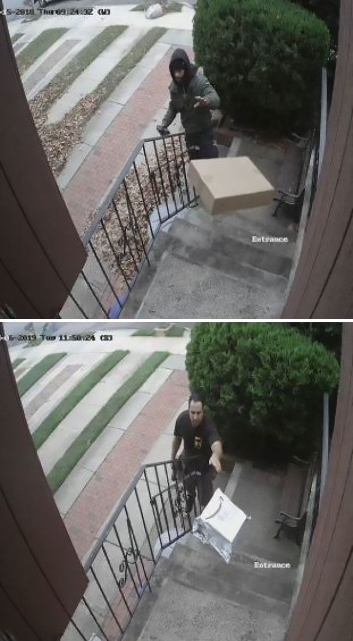 worst delivery drivers tossing packages