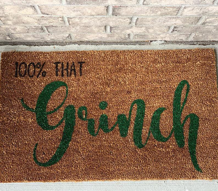 100% That Grinch Mat