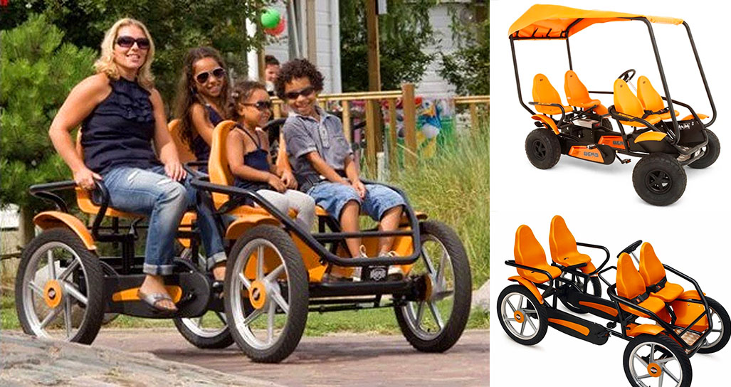 The 4 Person Bicycle Allows You To Travel With The Whole Family