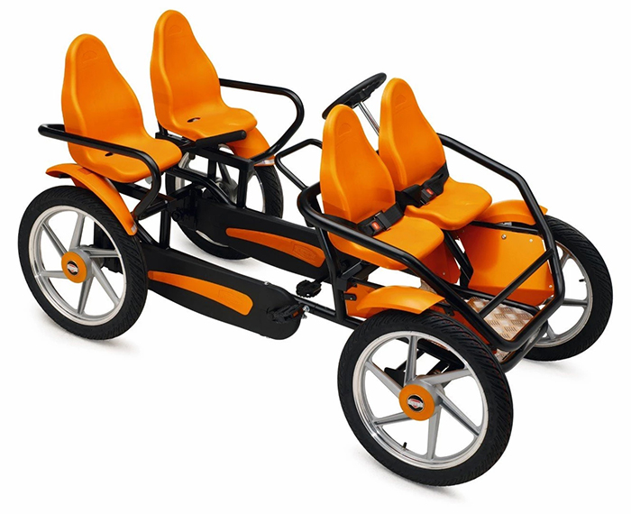 4-person bicycle pedal go-kart