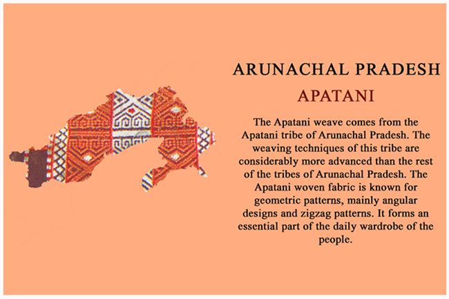Textile Map of India - Apatani of Arunachal Pradesh