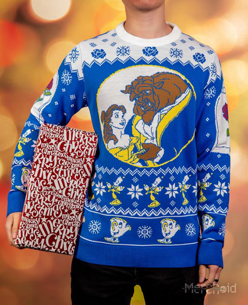 Beauty and the Beast Ugly Disney Christmas Sweater for Men