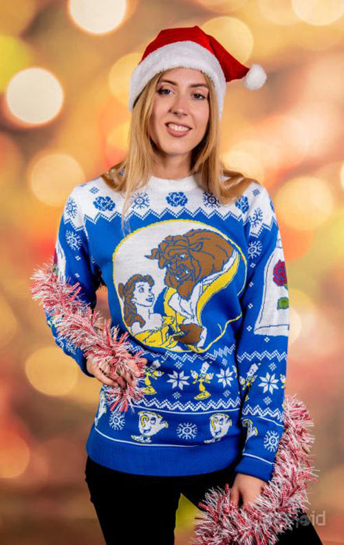 Beauty and the Beast Ugly Disney Christmas Sweater for Women