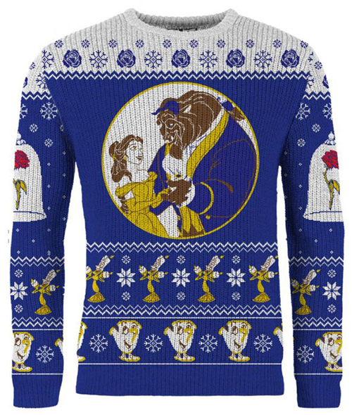 Beauty and the Beast Ugly Disney Christmas Sweater
