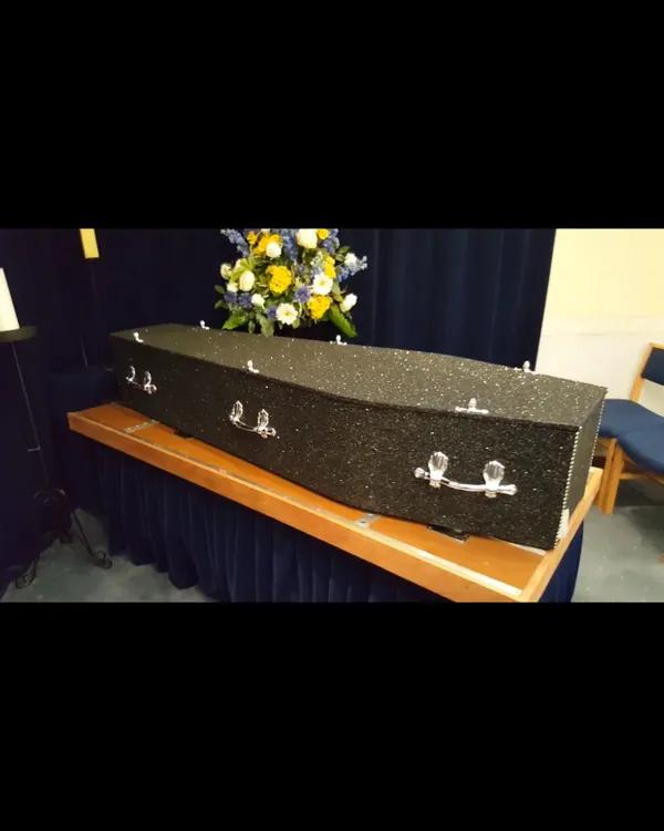 Black Silver Mix Glitter Coffin