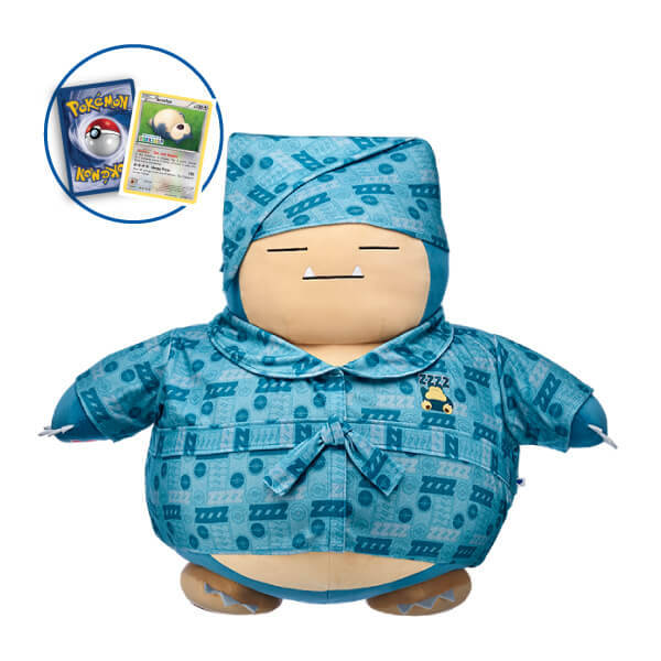 Build-A-Bear's Snorlax wearing a blue night robe