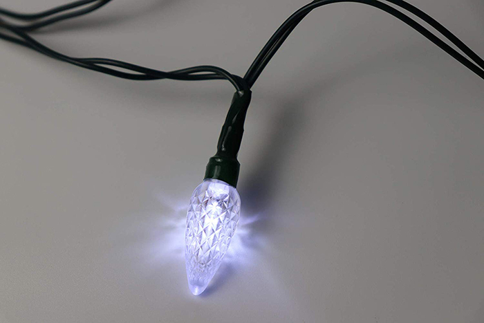 Christmas Lights Phone Charger Lighted White Bulb