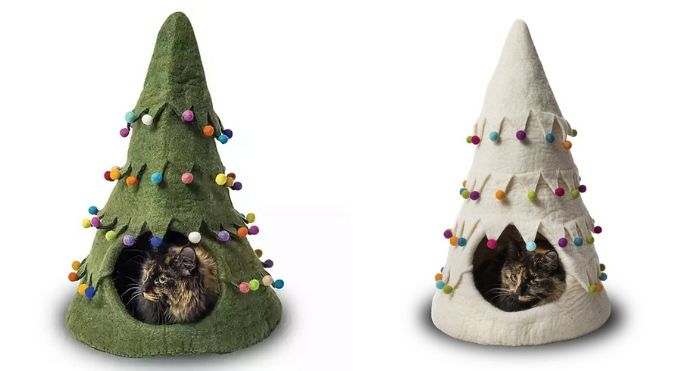Christmas tree pet house