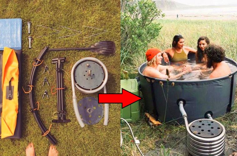 Collapsible Camping Hot Tub