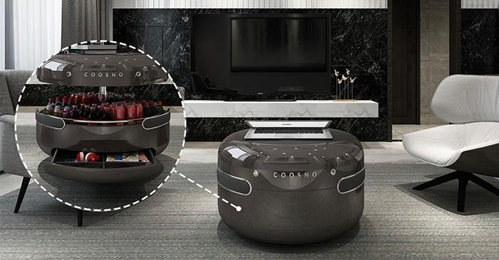 Coosno Smart Coffee Table in Black Interior