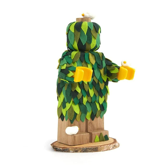 Customized LEGO Wooden Figure Covered with Felt Leaves