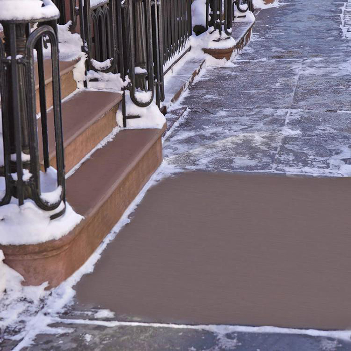 De-iced Sidewalk
