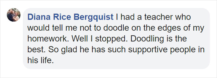 Diana Rice Bergquist Facebook Comment
