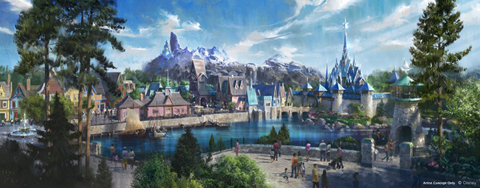 Disneyland Paris Frozen Land Artist Concept