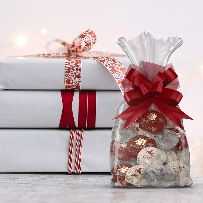 Dove Dark Chocolate Cherry Swirl added on as christmas gift