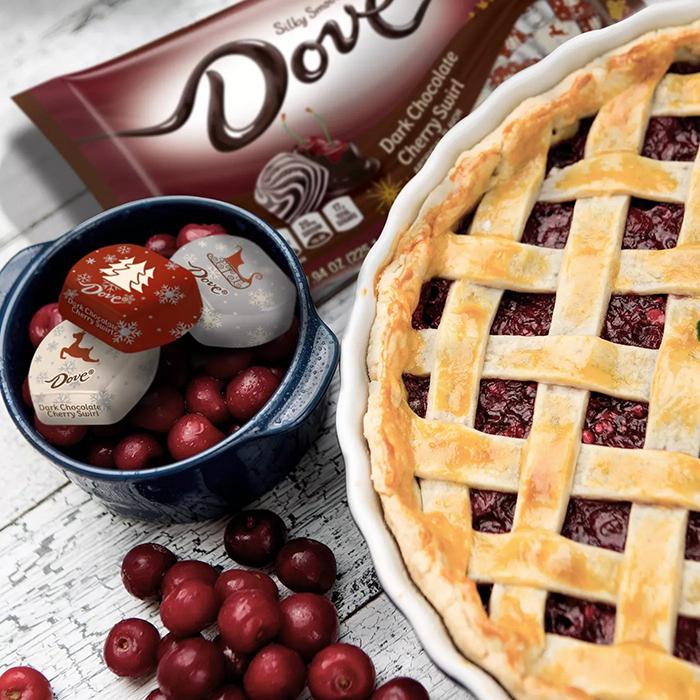 Dove Dark Chocolate Cherry Swirl suggested serving