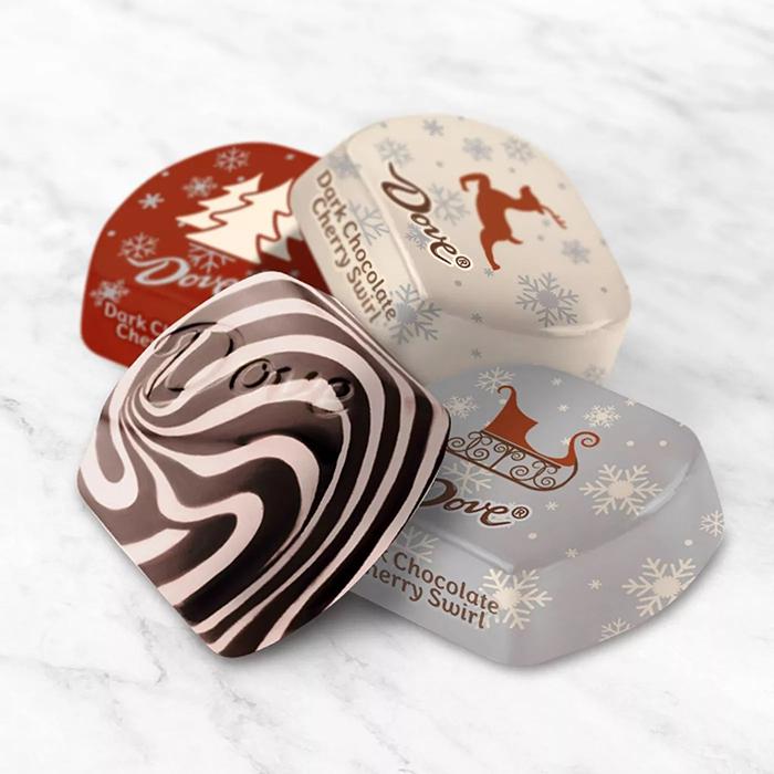 Dove Dark Chocolate Cherry Swirl tablet