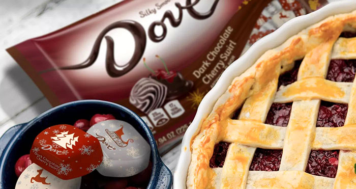 Dove dark chocolate cherry swirl