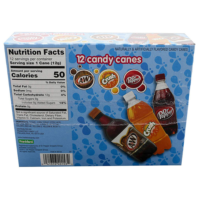Frankford Soda Candy Canes nutrition facts
