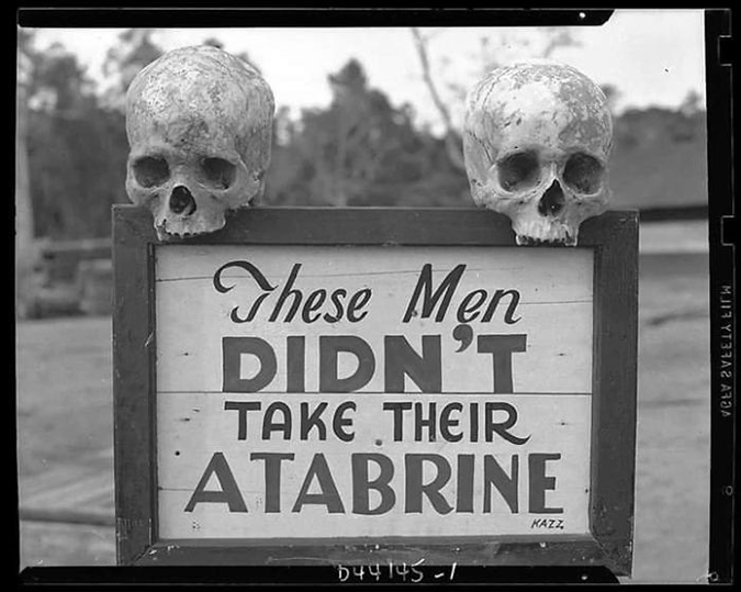 Funny Threatening Signs advertisement for an anti malaria medicine