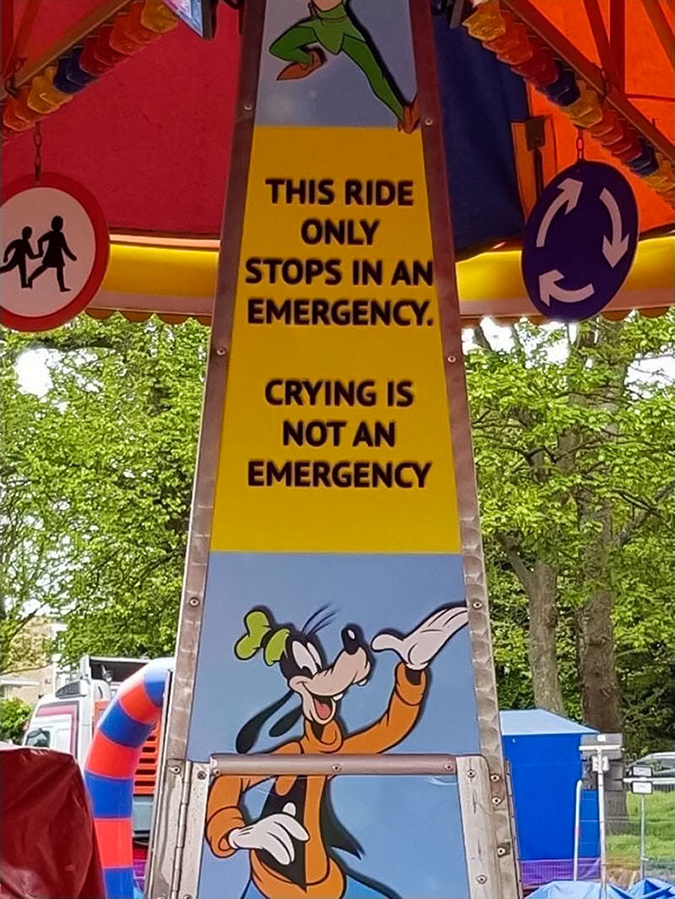 Funny Threatening Signs psa to all kids